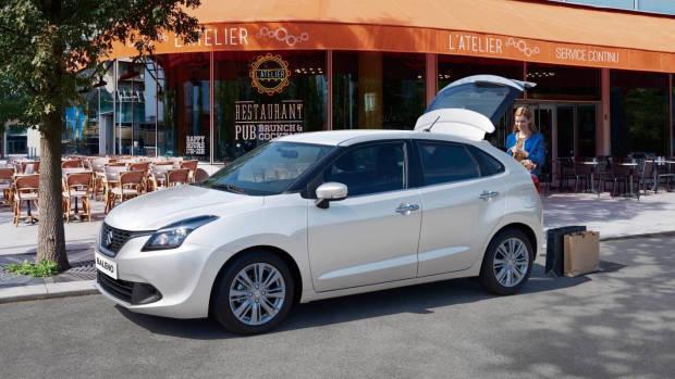 2019 Suzuki Baleno white front 3/4