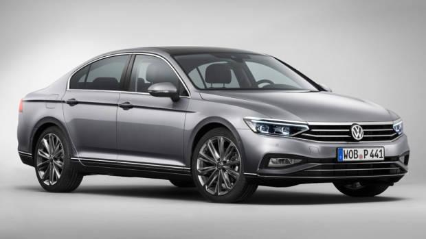 2020 Volkswagen Passat grey sedan front 3/4