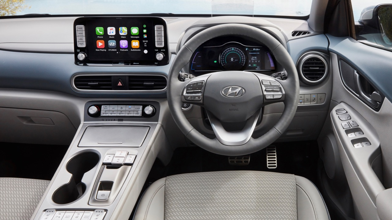 2019 Hyundai Kona Electric stone grey interior