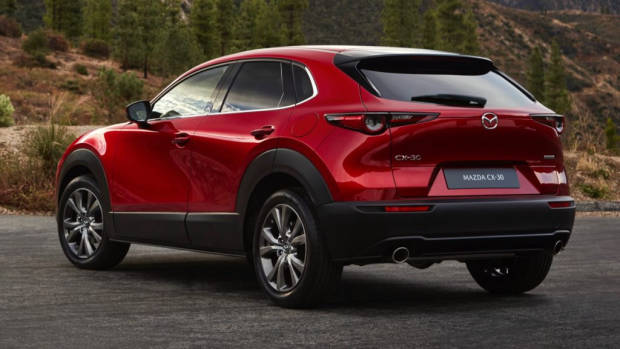 2020 Mazda CX-30 Soul Red Crystal Rear Quarter