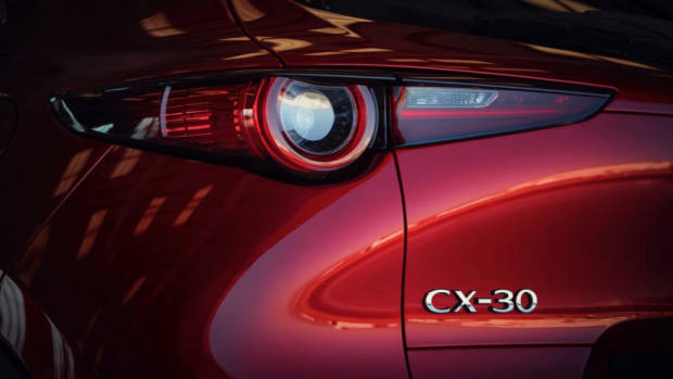 2020 Mazda CX-30 Soul Red Crystal Tail Lights