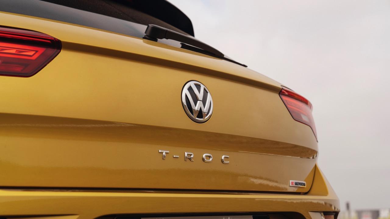 2020 Volkswagen T-Roc R-Line Yellow badging