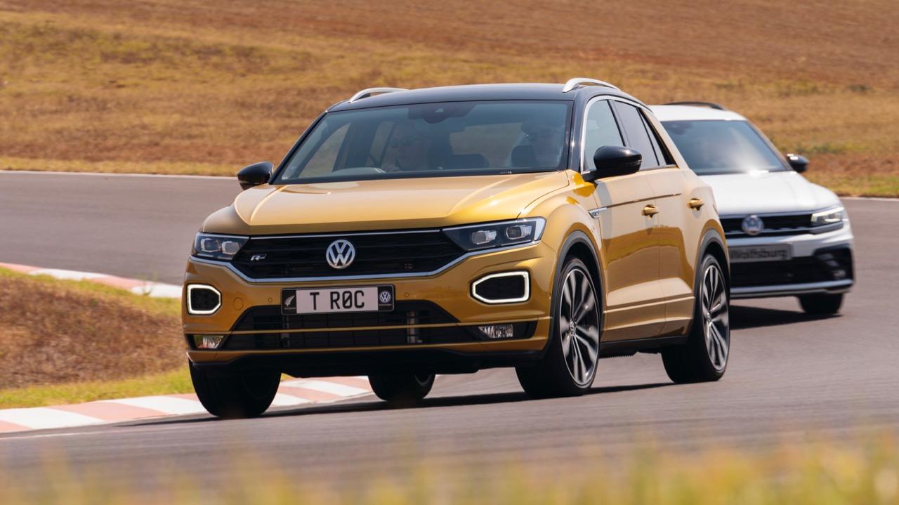 2020 Volkswagen T-Roc R-Line driving