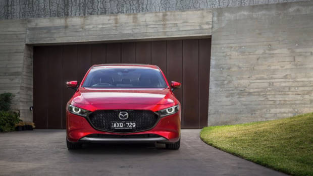 2019 Mazda 3 G25 Astina Soul Red Crystal front