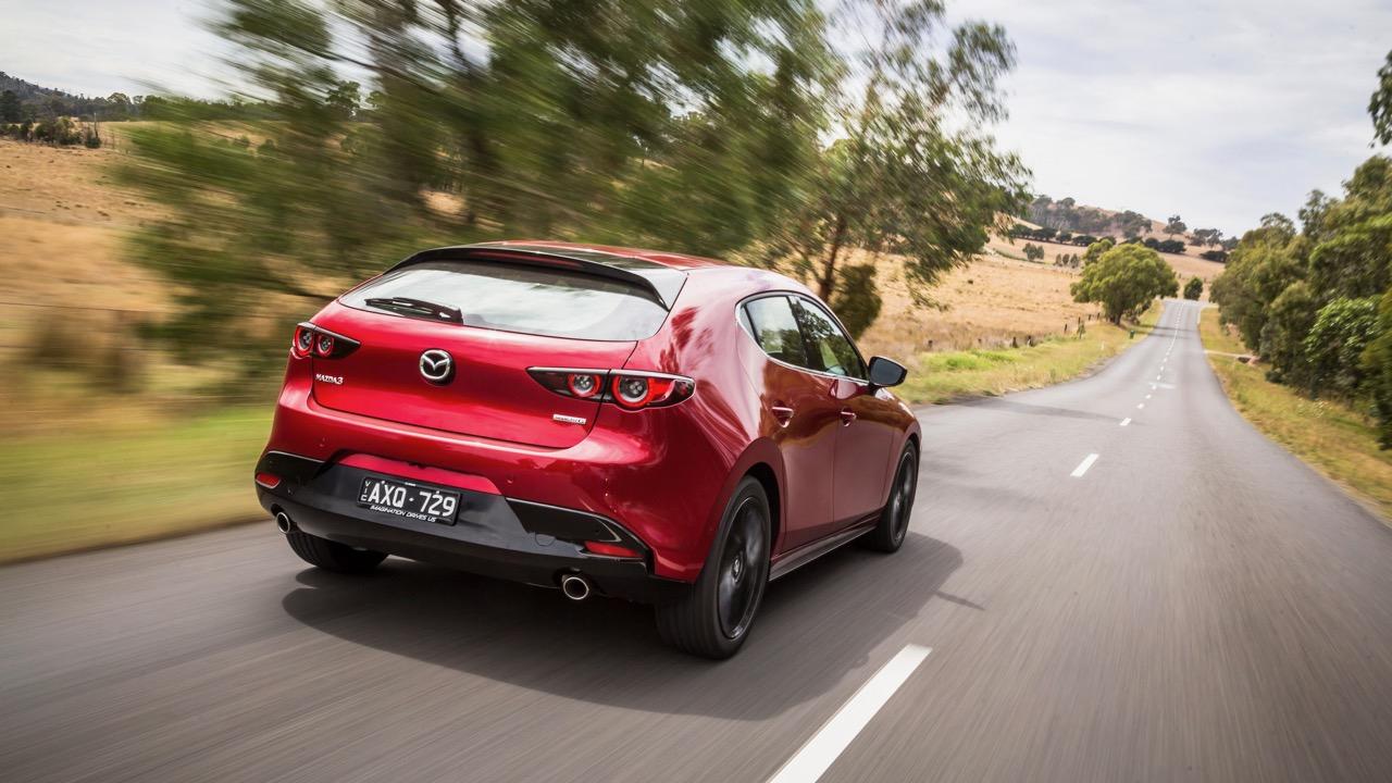 2019 Mazda 3 G25 Astina Soul Red Crystal rear