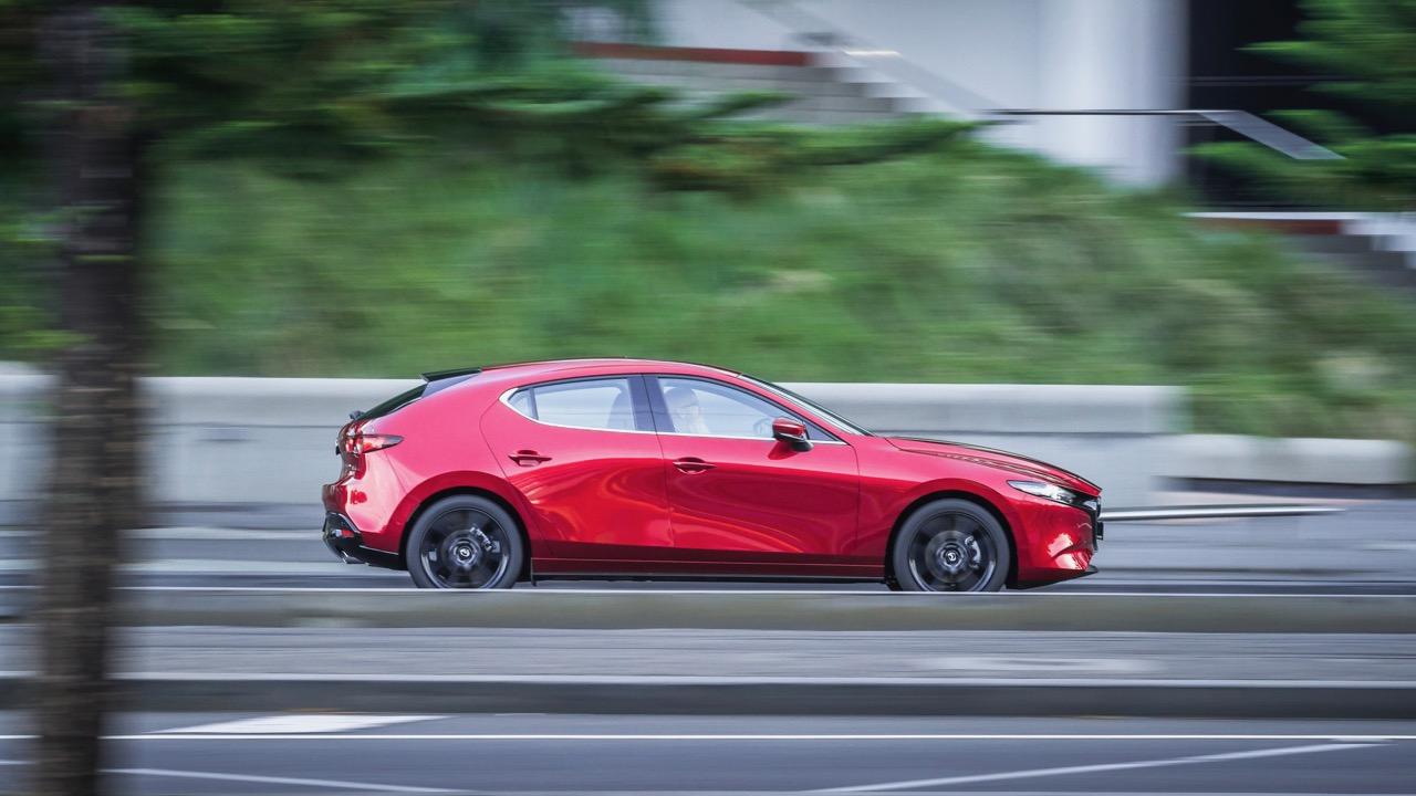 2019 Mazda 3 G25 Astina Soul Red Crystal side