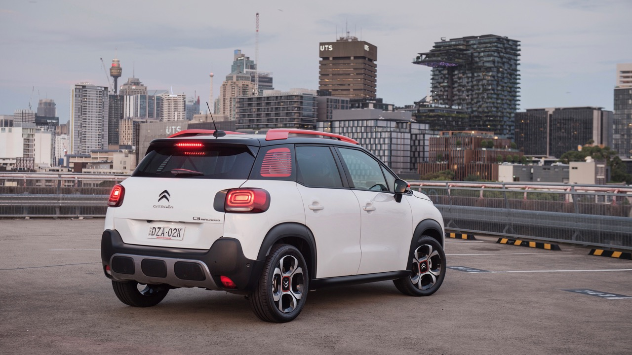 Citroen C3 Aircross 2019 white rear