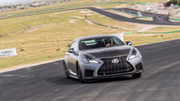 Lexus RC F Track Edition 2020 slide Tom Baker