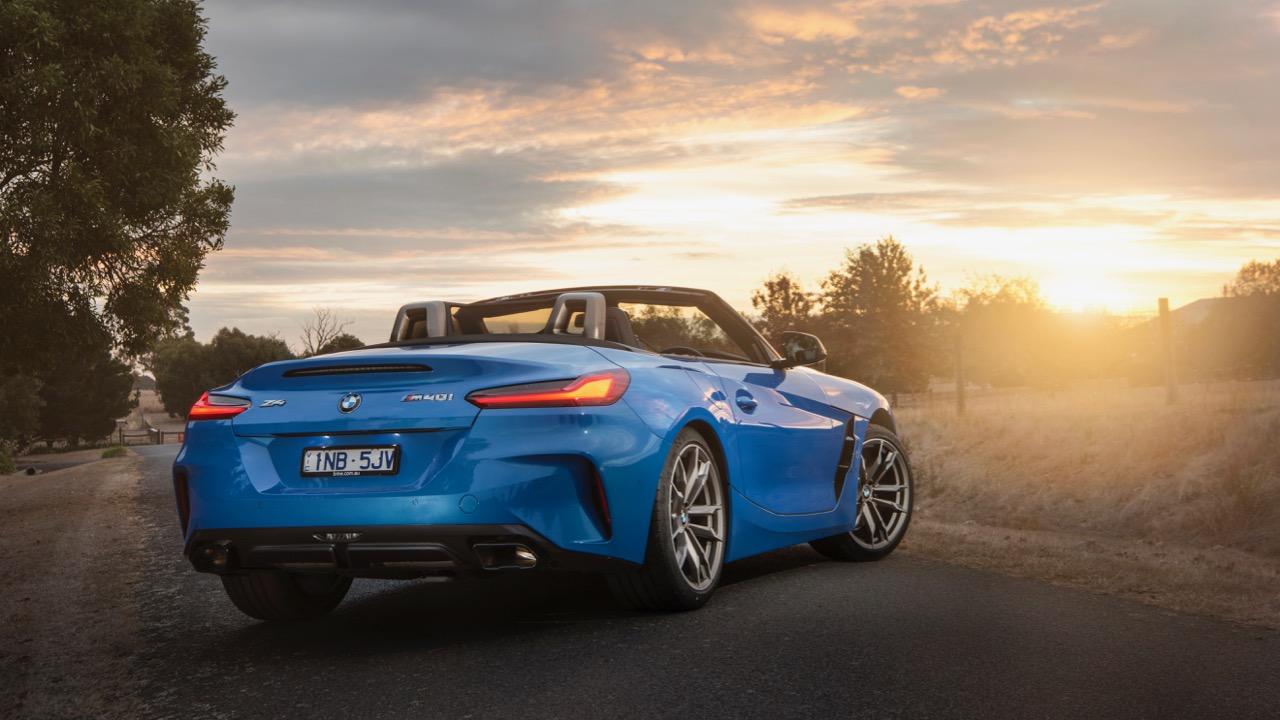 2019 BMW Z4 M40i Misano Blue rear
