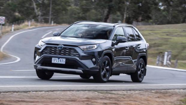A 2019 Toyota RAV4 SUV in grey