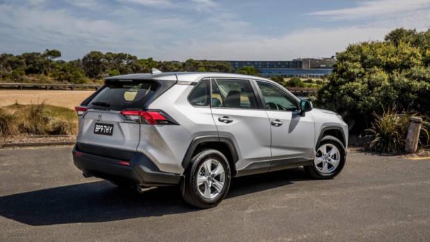 A 2019 Toyota RAV4 SUV in silver