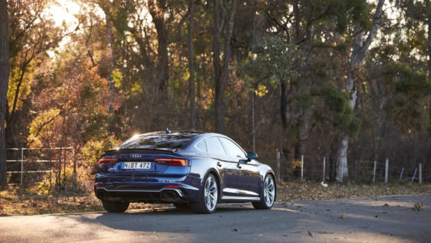 Audi RS5 Sportback 2019 Navarra Blue rear end