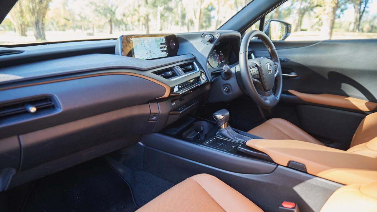 Lexus UX200 tan interior