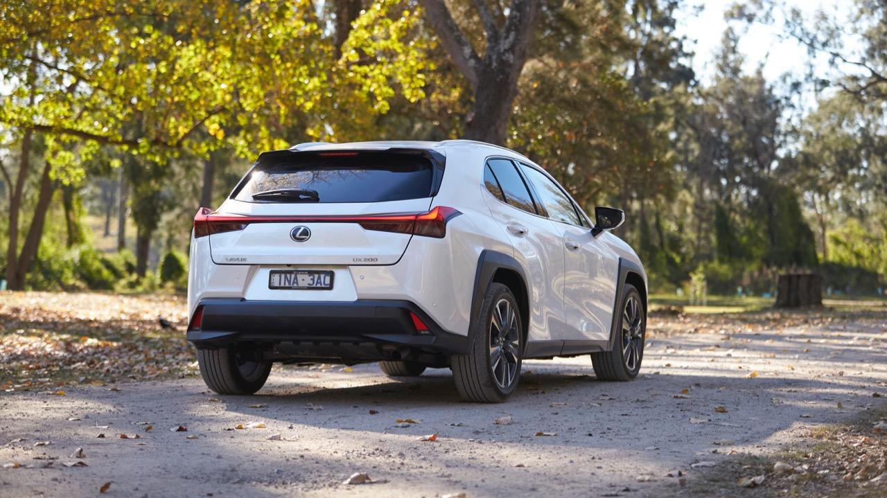 Lexus UX200 white rear