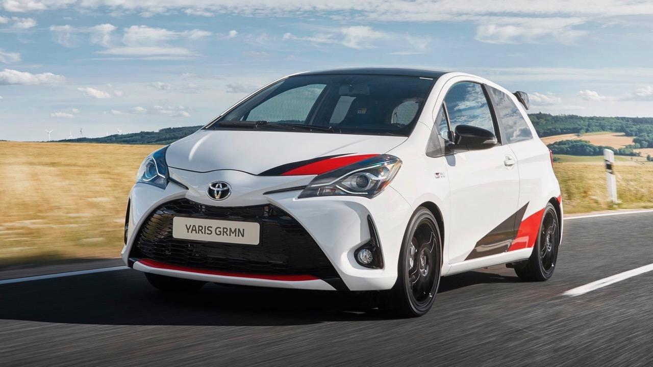 Toyota Yaris GRMN white front