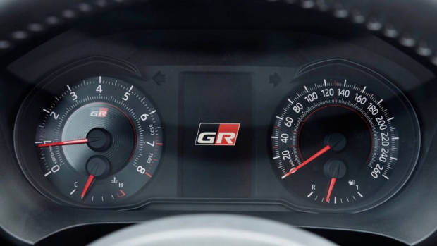 Toyota Yaris GRMN white gauges