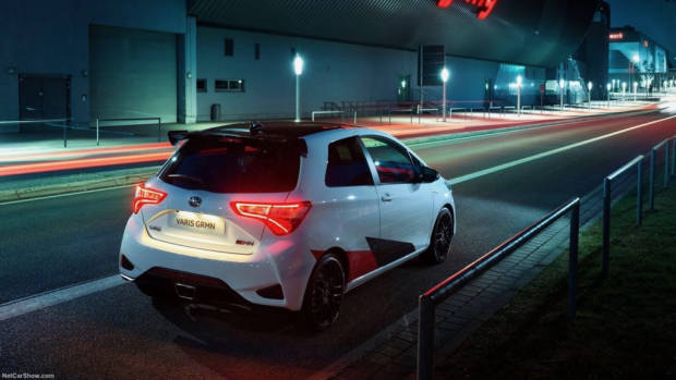 Toyota Yaris GRMN white rear