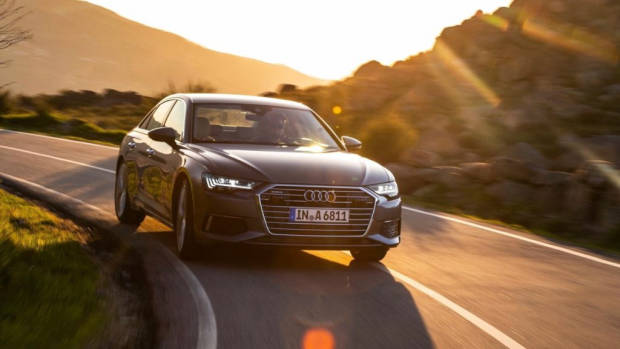 2019 Audi A6 Sedan grey front Europe