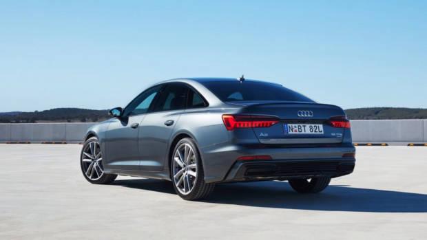 2019 Audi A6 Sedan grey rear