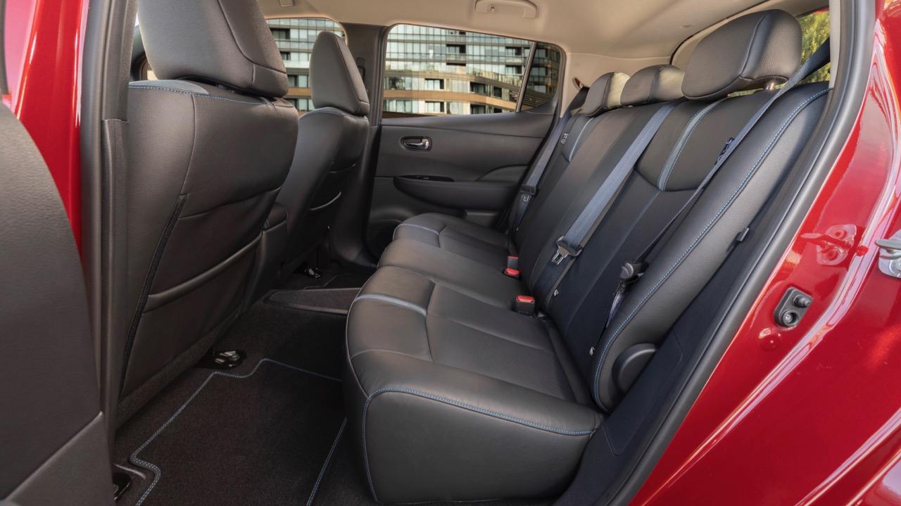 2019 Nissan Leaf grey back seat space
