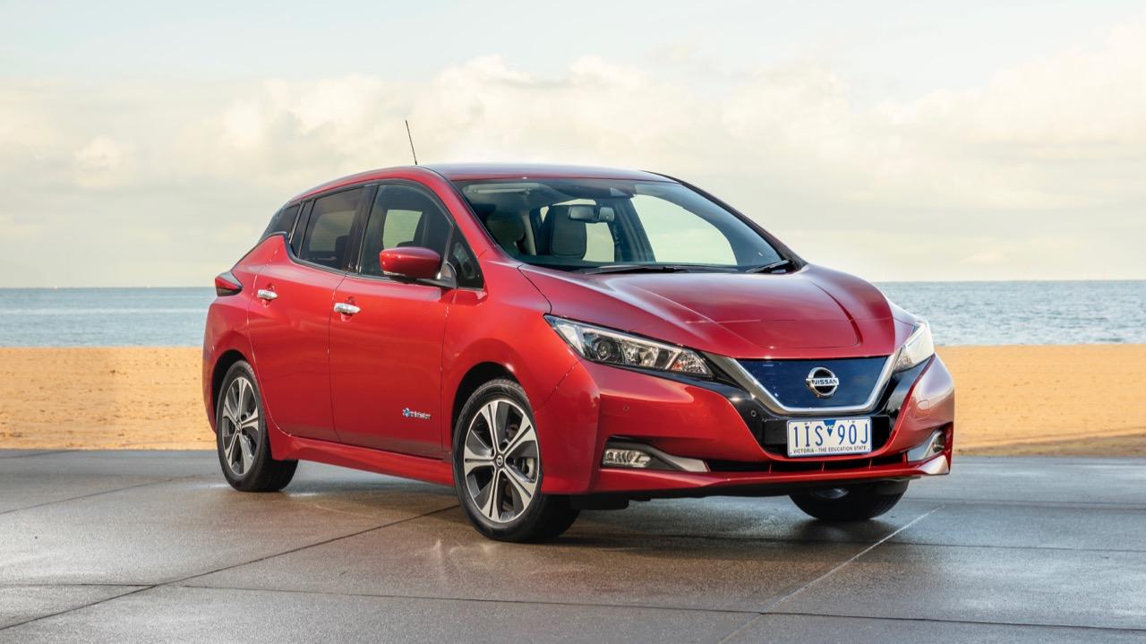 2019 Nissan Leaf red front end