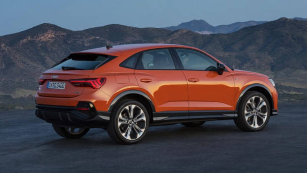 2020 Audi Q3 Sportback rear end orange