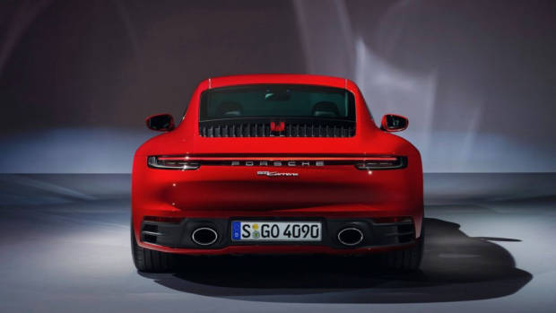 2020 Porsche 911 Carrera red coupe