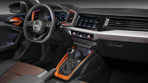 Audi A1 citycarver interior orange fabric