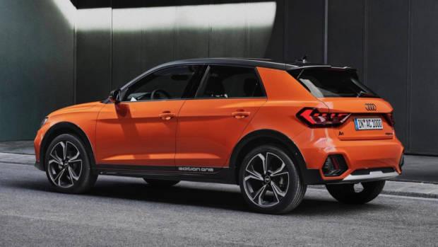 Audi A1 citycarver rear end orange