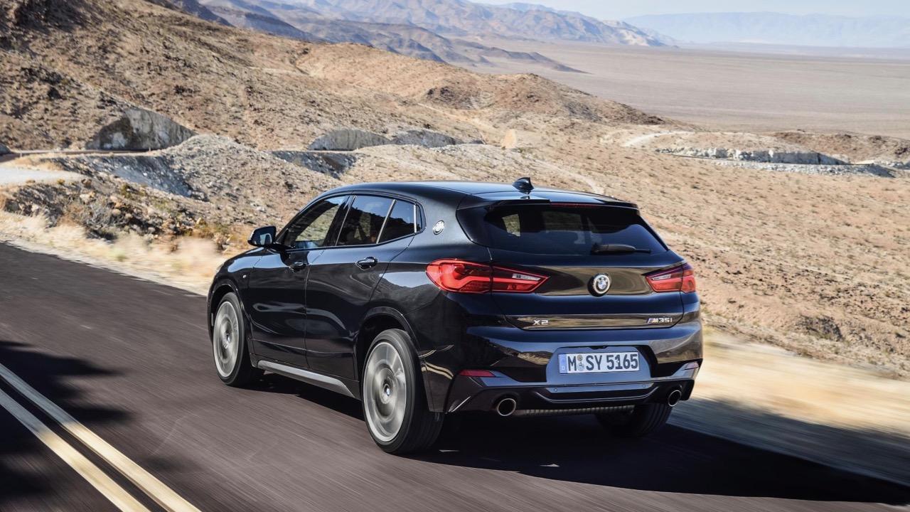 BMW X2 M35i 2019 black driving