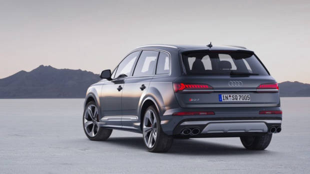 2020 Audi SQ7 TDI rear end grey