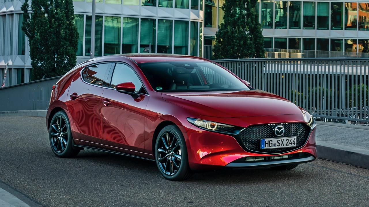 Mazda 3 Skyactiv-X 2020 review front
