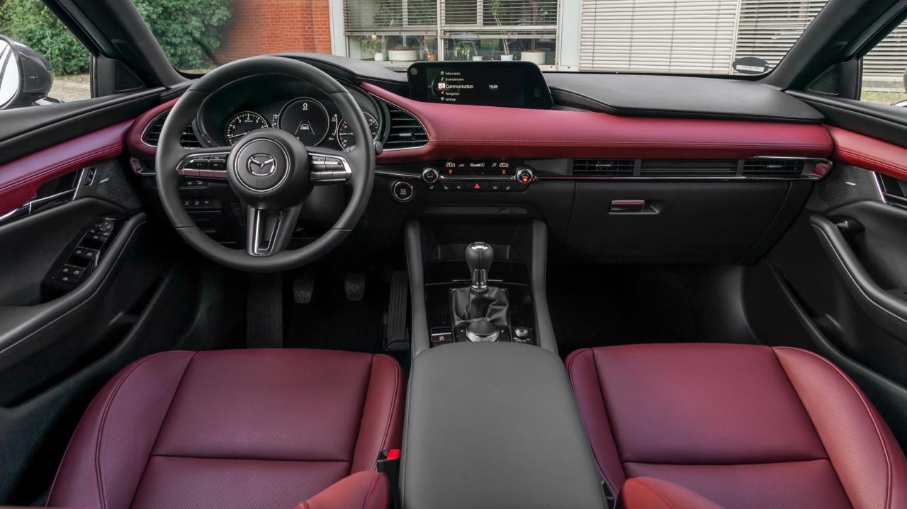 Mazda 3 Skyactiv-X 2020 review interior