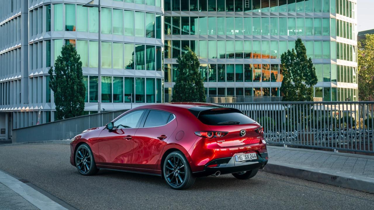 Mazda 3 Skyactiv-X 2020 review rear