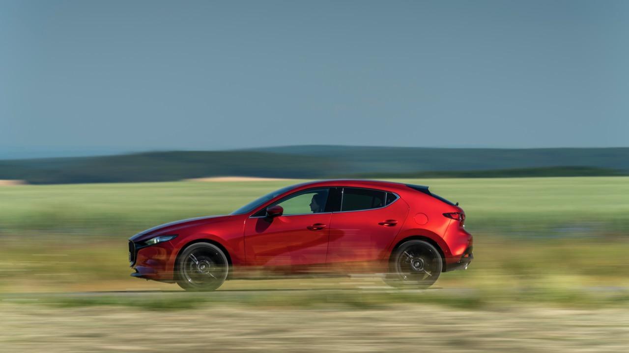 Mazda 3 Skyactiv-X 2020 review side