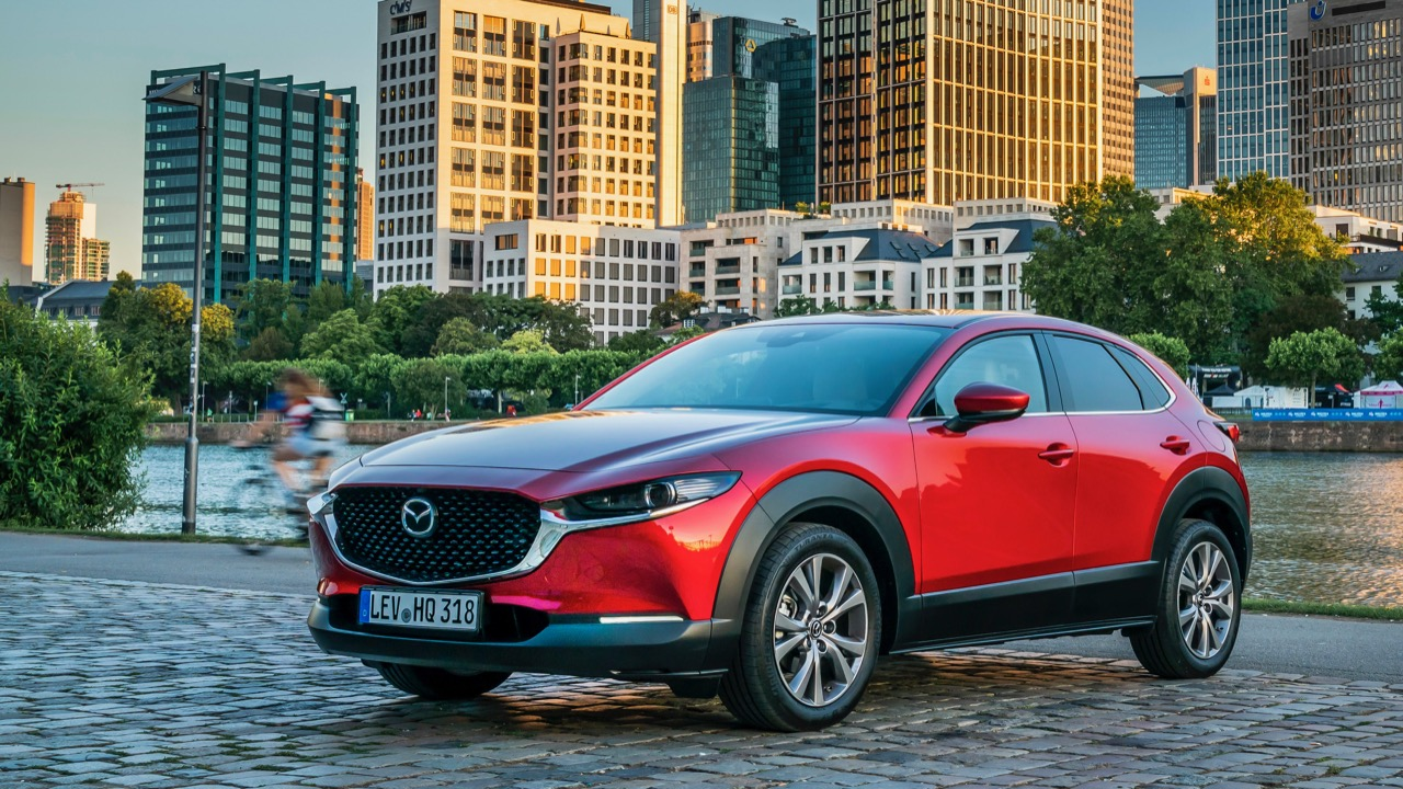Mazda CX30 2020 review red front