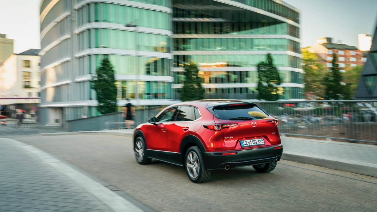 Mazda CX30 2020 review red rear