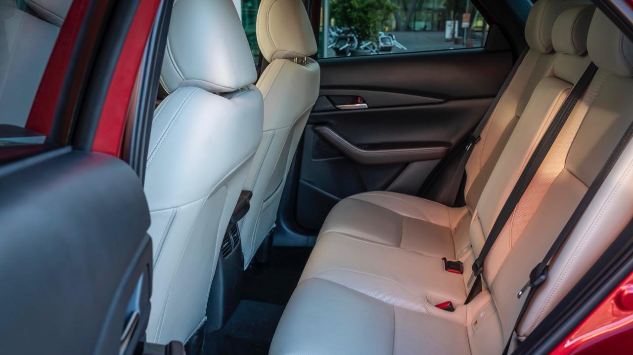 Mazda CX30 2020 white leather back seat