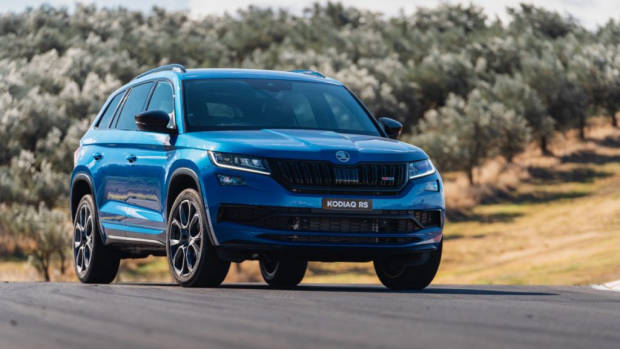 2019 Skoda Kodiaq RS review blue