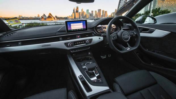 2020 Audi A5 Sportback black leather interior