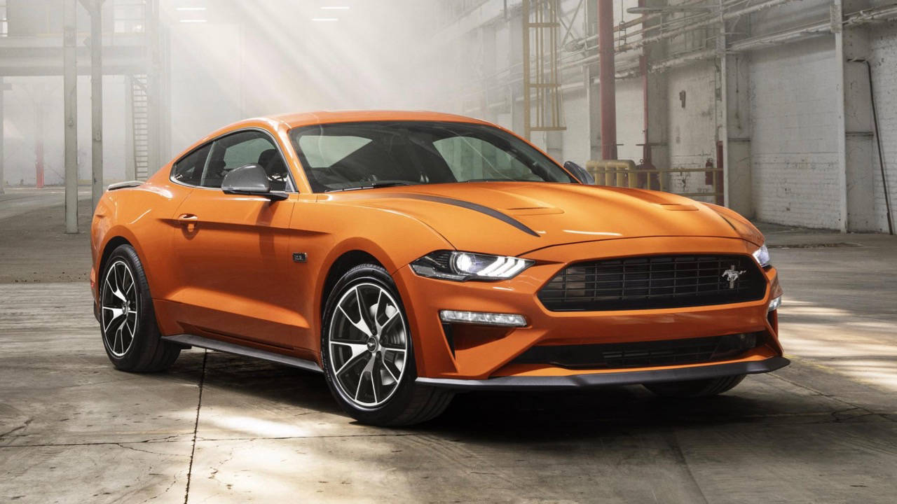2020 Ford Mustang Turbo High Performance orange