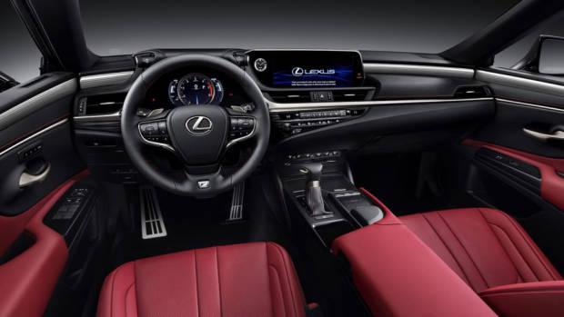 2020 Lexus ES F Sport red leather
