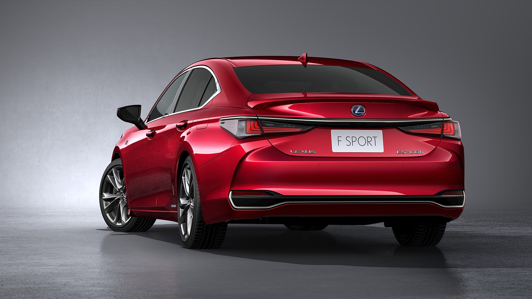 2020 Lexus ES F Sport red rear end