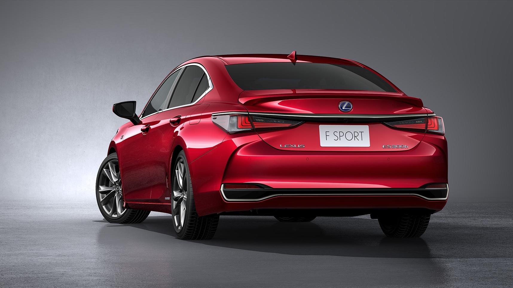 2020 Lexus ES F Sport red rear end