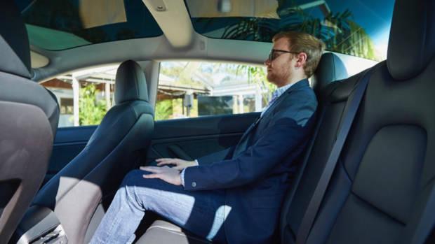 Tesla Model 3 Australia back seat