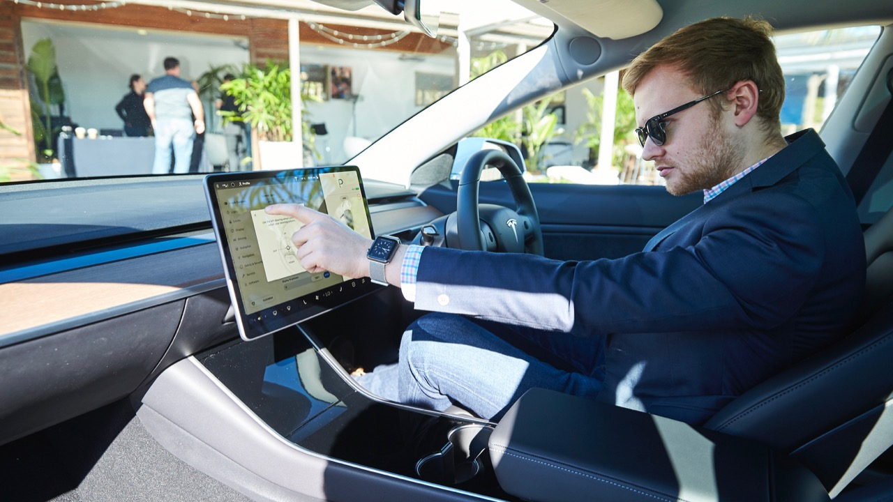 Tesla Model 3 Australia interior