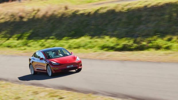 Tesla Model 3 Australia red review