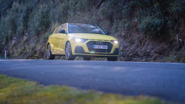 2020 Audi A1 review yellow driving