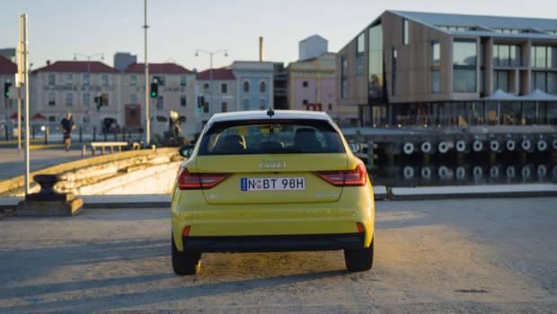 2020 Audi A1 review yellow rear