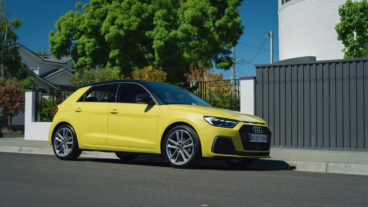 2020 Audi A1 review yellow side